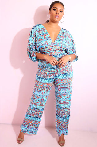 "Rebdolls ""Make It Ring"" Chevron Ruffled Pants"
