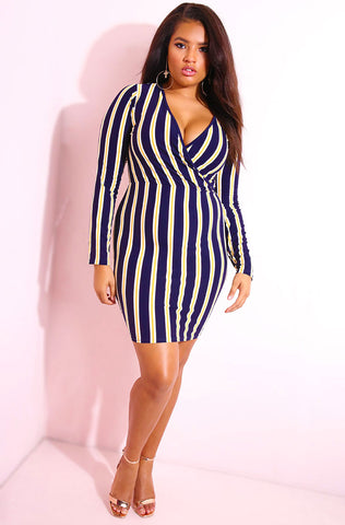 "Rebdolls ""On Good Terms"" Striped Hooded Maxi Dress FINAL SALE"