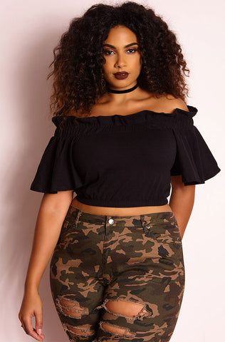 "Rebdolls ""Give It Up"" Double Slit Top"