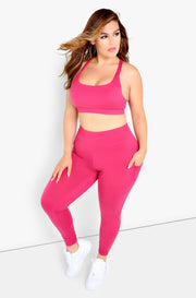 Coral Sports Bra Plus Sizes