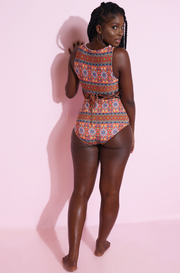 Caged Waistline Swimsuit Plus Sizes