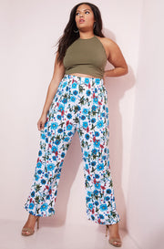 Blue Palazzo Pants plus sizes