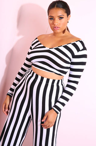 "Rebdolls ""Entangled"" Over The Shoulder Ruffled Crop Top"