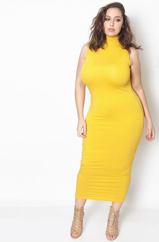 "Rebdolls ""Te Amo"" Textured Sleeveless Midi Dress - Final Sale Clearance"