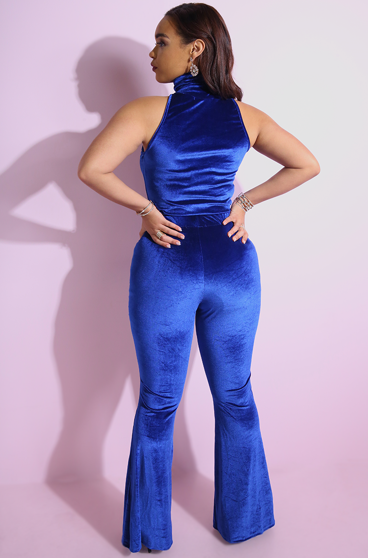 Royal Blue Bell Bottom Pants plus sizes