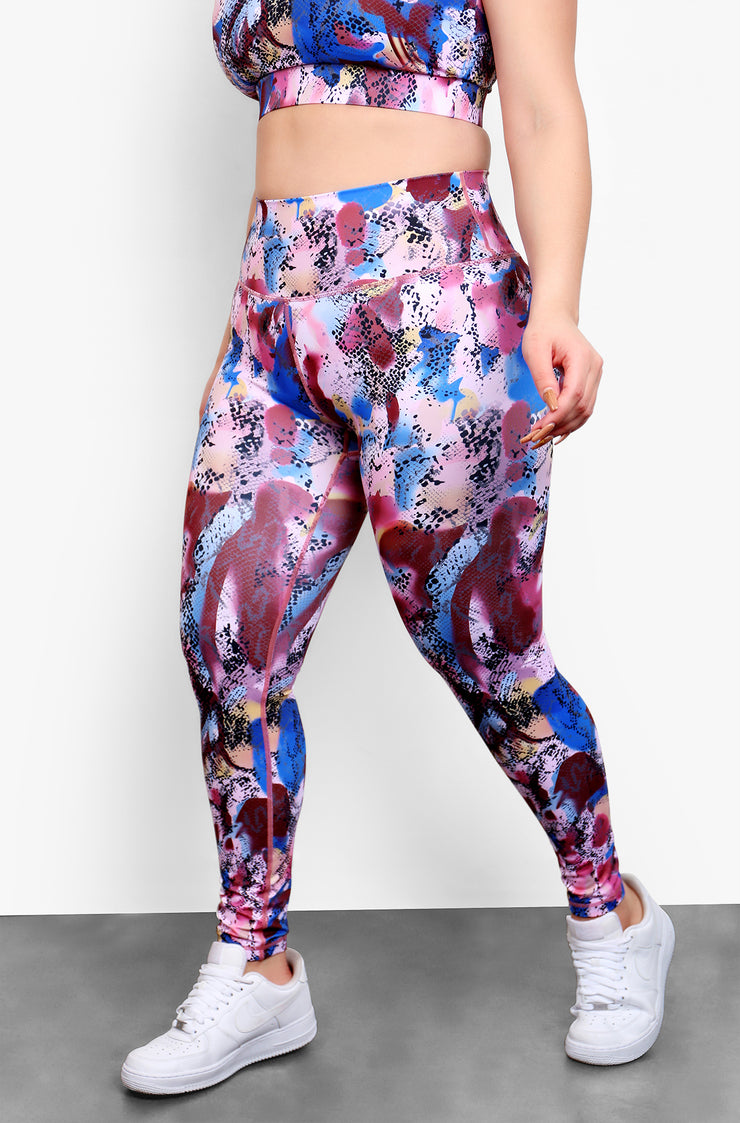 Purple High Waist Leggings