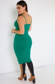 Turquoise Strappy  Midi Dress Plus Sizes