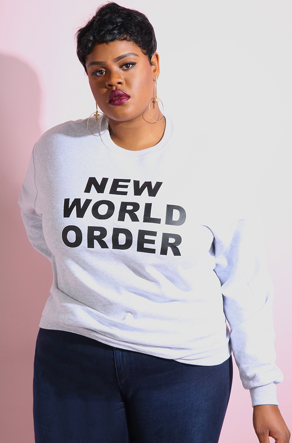 Gray Sweatshirt plus sizes