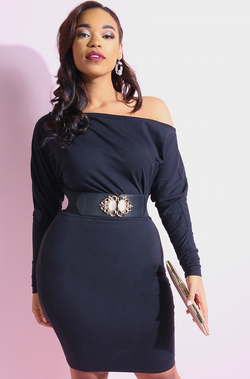 "Rebdolls ""Next Move"" Over The Shoulder Bodycon Mini Dress"