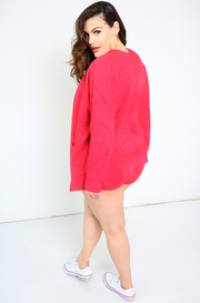 "Unbranded. ""No Excuses"" Knitted Teddy Cardigan"