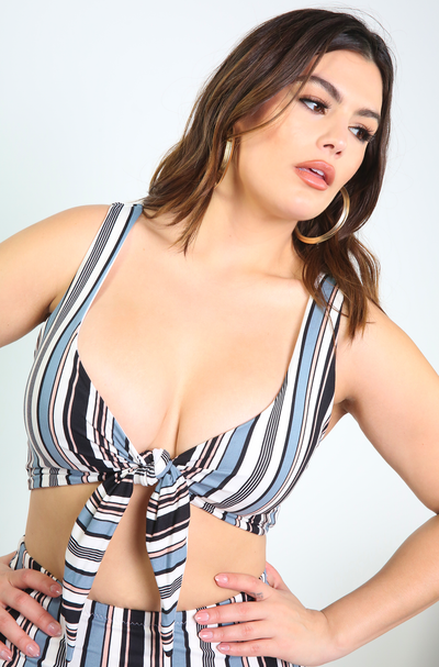 White Tied Swimsuit Top Plus Sizes