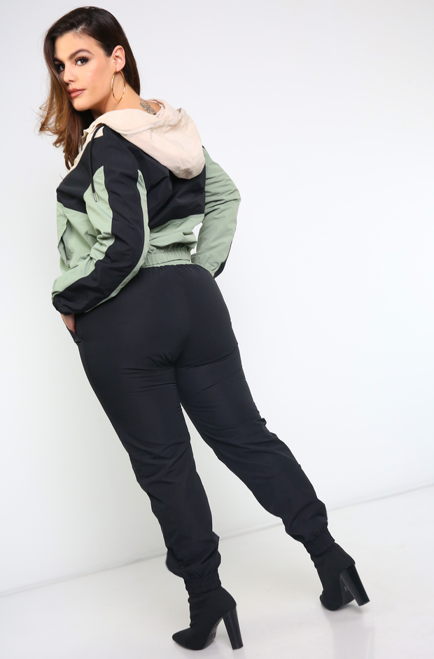 Black Wind Breaker Jacket Plus Sizes