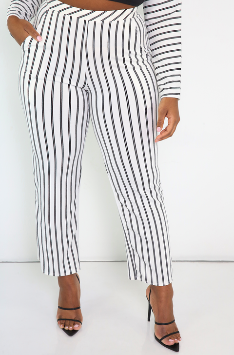 White Pants With Pockets Plus Sizes