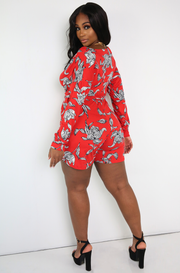 Red Over The Shoulder Long Sleeve Jumper Plus Sizes