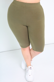 "Rebdolls ""No Plans"" Bermuda Cropped Leggings"