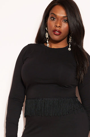 "Rebdolls ""Doing It Well"" Over The Shoulder Crop Top"