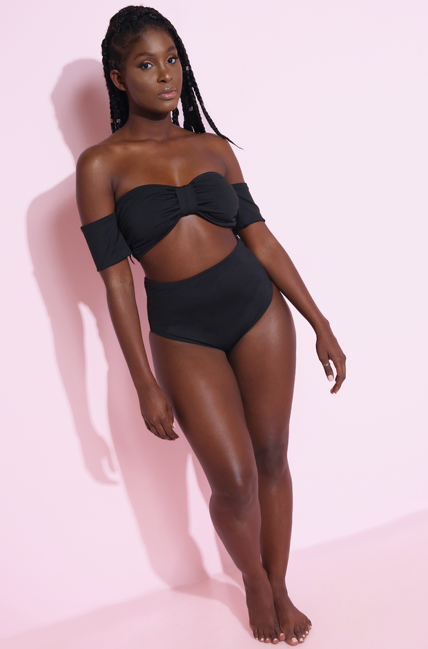 Black Swim Top Plus Sizes