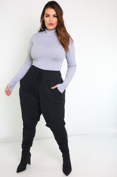Black Harem Pants Plus Sizes