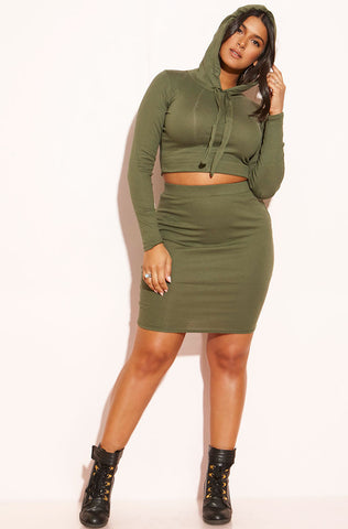 "Rebdolls ""The Sweet Spot"" Cardigan & Midi Dress Set - Black"