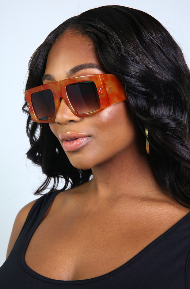 Orange Square Sunglasses