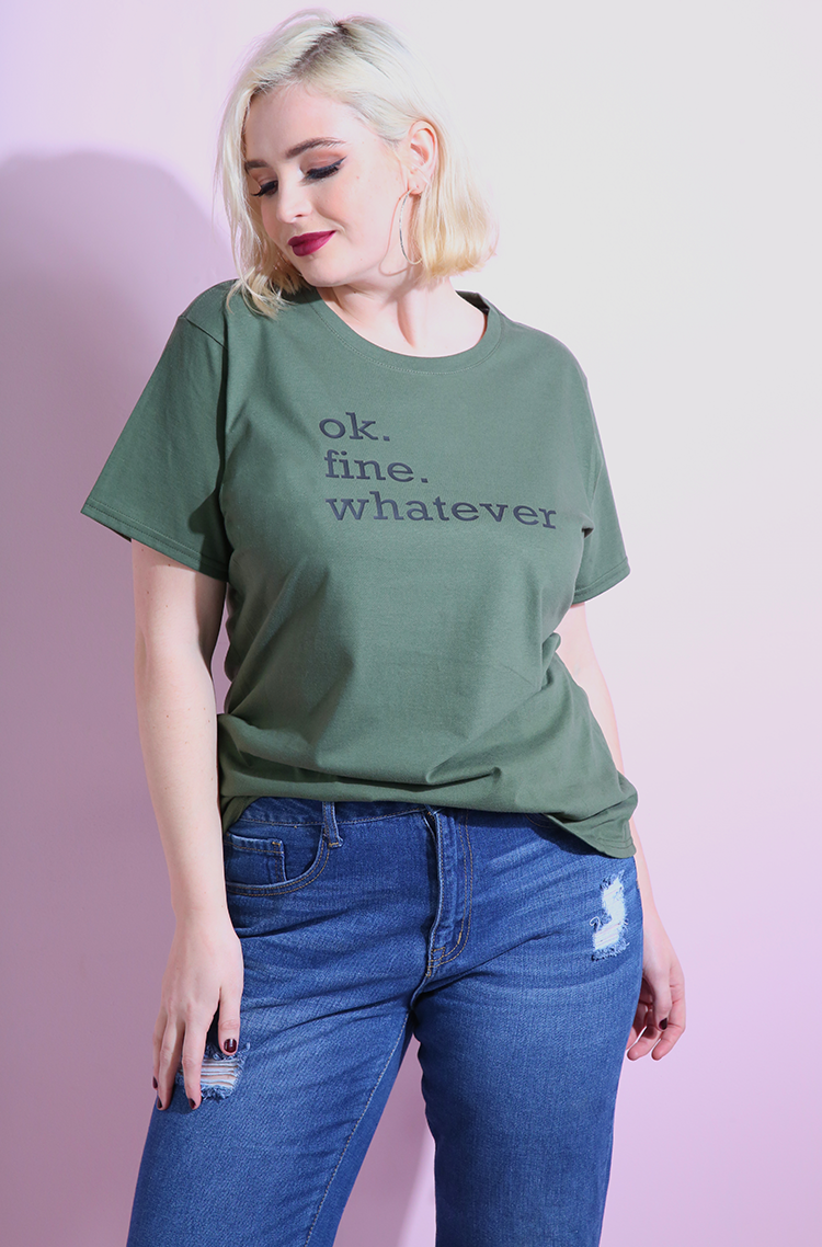 Olive Short Sleeve T-Shirt plus sizes