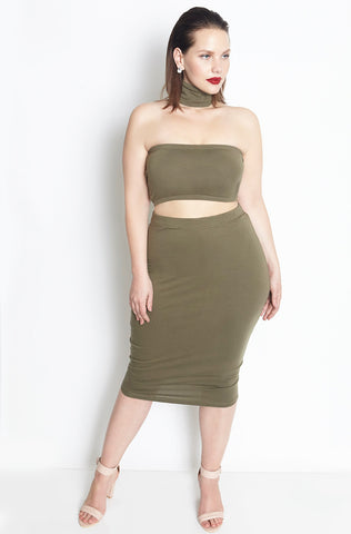 Rebdolls Essential Crew Neck Midi Dress - Final Sale Clearance