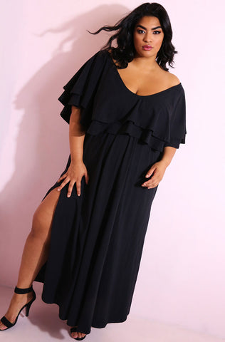 "Rebdolls ""Goddess"" Pleated Maxi Skirt with pockets"