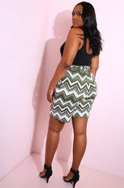 Olive Wide Leg Shorts With Pockets Plus Sizes