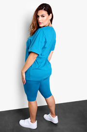 Emerald Longline Crewneck Top Plus Sizes
