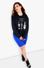 Black Graphic Sweatshirt Plus Sizes