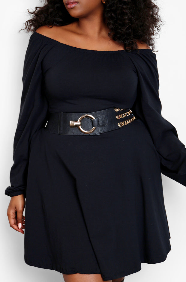 Black Elastic Waist Belt