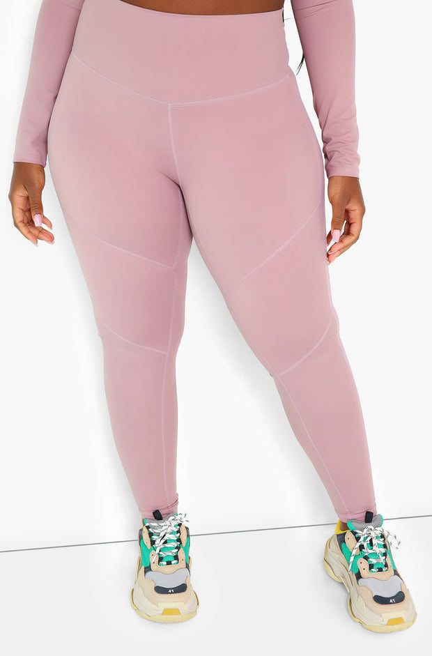 Mocha High Waist Leggings Plus Sizes