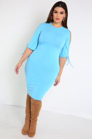 "Rebdolls ""Our History"" Open Sleeve Midi Dress"
