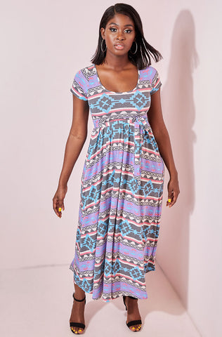 "Rebdolls ""Find My Way"" Flower Print Maxi Dress"