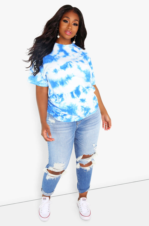 "Unbranded. ""Out Of My Mind"" Tie Dye Crew Neck T-shirt"