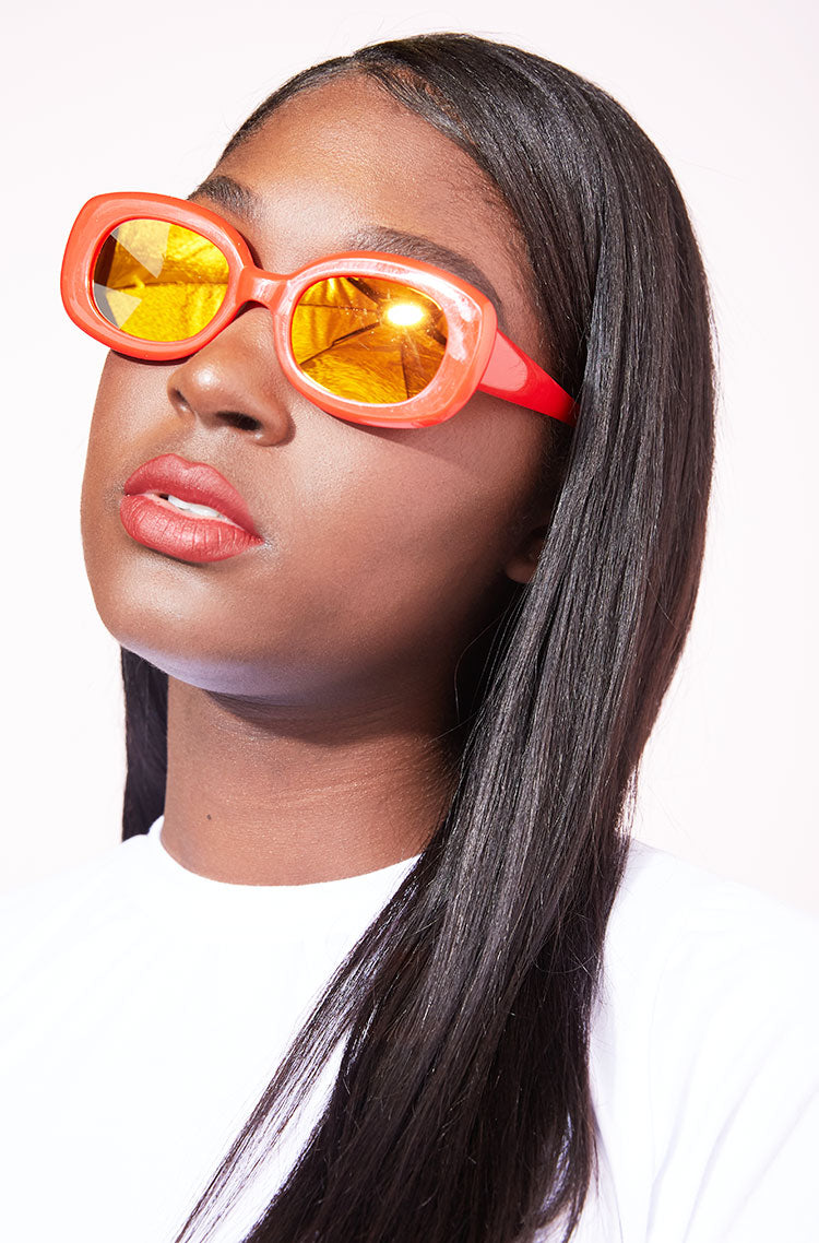 Red Reflective Sunglasses