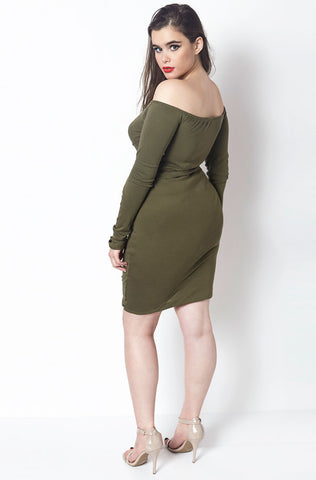 "Rebdolls ""Mysterious"" Ruched Dress - Final Sale Clearance"