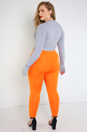 Orange Leggings Plus Sizes
