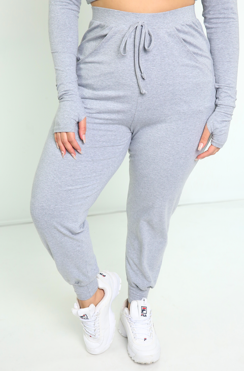 Gray Jogger Pants Plus Sizes