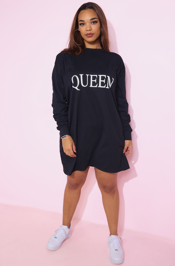 "Rebdolls ""Queen"" Long Sleeve T-Shirt Dress - FINAL SALE"