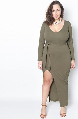 Rebdolls ''Anything For Ya'' Basic Maxi Dress-FINAL SALE