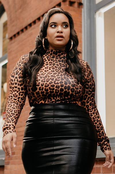 "Rebdolls X Denise Mercedes ""Wild Love"" High Neck Bodysuit- FINAL SALE"