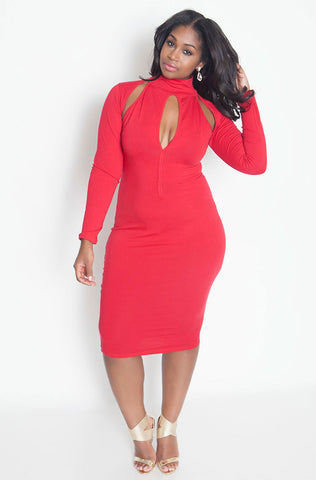 Rebdolls Essential Short Sleeve Crew Neck Midi Dress - Pink - FINAL SALE CLEARANCE