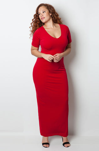 "Rebdolls ""No Body Like You"" Over The Shoulder Bodycon Maxi Dress - FINAL SALE CLEARANCE"