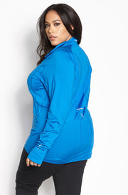 Blue Sportswear Runner Pullover Sweatshirt plus sizes