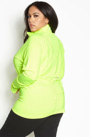 Chartreuse Sportswear Runner Pullover Sweatshirt plus sizes