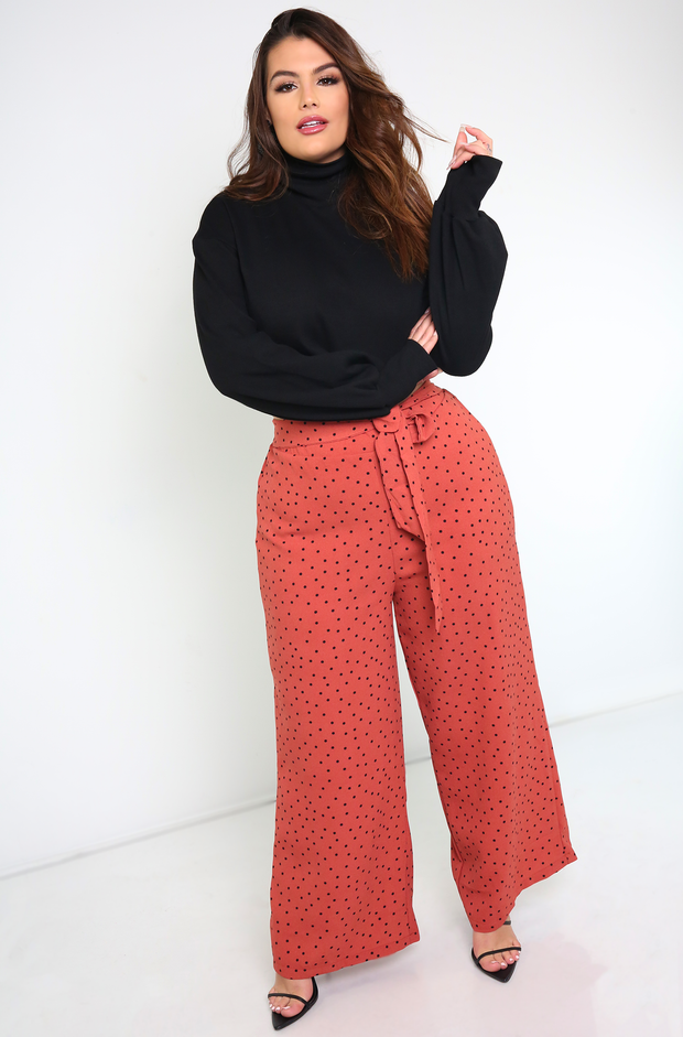 Sienna Woven Wide Leg Pants Plus Sizes