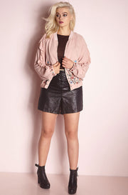 Blush Embroidered Jacket plus sizes