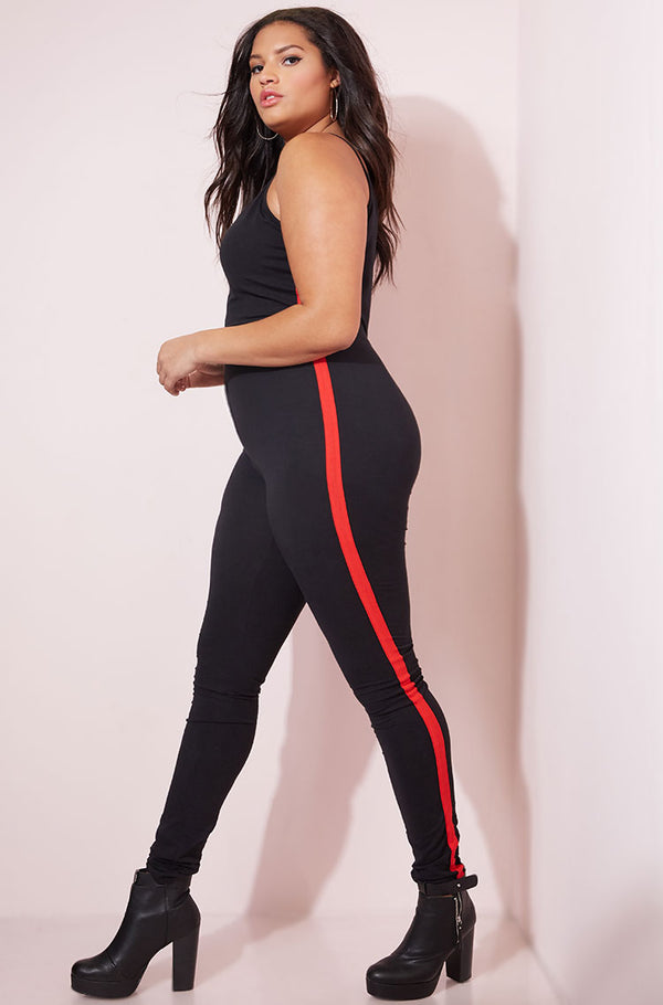 Black V-neck Jumpsuit plus sizes