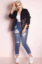 Black Embroidered Jacket plus sizes